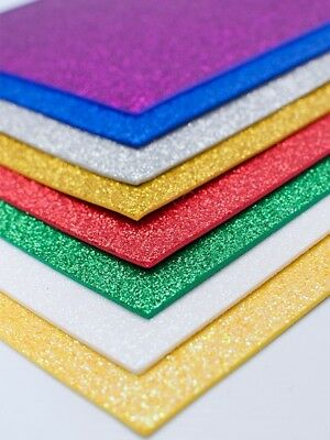 "EVA Foam sheets reg & glitter eva 9""x12"" 100 pc kids craft arts goma"