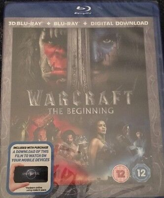 Warcraft: The Beginning (Blu-ray 3D + Blu-ray + Digital Download)... - DVD  BGVG