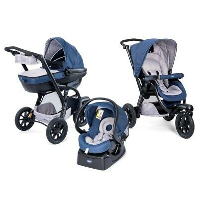 CHICCO Trio Activ3 Blue Passion con kit Auto