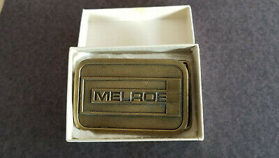 """Vintage """"70's"""" Previous Owned Generic Melroe Brass Belt Buckle"""