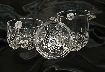 Genuine Crystal D'Arques Longchamp Set Of Two Cream & Sugar Bowls Only READ