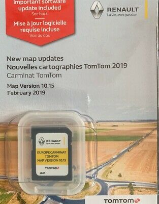 2019-2020 Renault Carminat Tomtom Sd Card Navigation Sat Nav Map V10.15 Latest