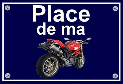 "plaque "" PLACE DE MA DUCATI MOSTRO MONSTER  """