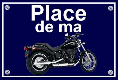 "plaque "" PLACE DE MA HARLEY DAVIDSON SOFTAIL NIGHT TRAIN   """
