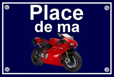 "plaque "" PLACE DE MA DUCATI 1098  """