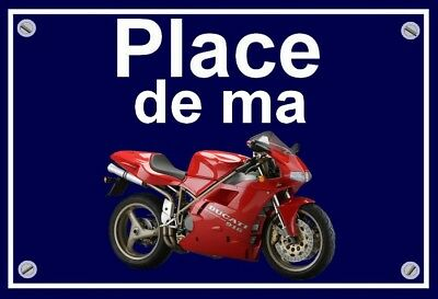 "plaque "" PLACE DE MA DUCATI 916   """