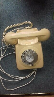 Vintage Gpo Cream Rotary Telephone - In Working Order
