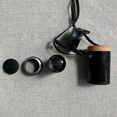 Vintage Yashica Super Yashinon 13.5cm In Original Leather Case with Lens Hood