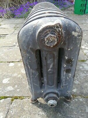 Antique Reclaimed Small Freestanding Cast Iron Radiator