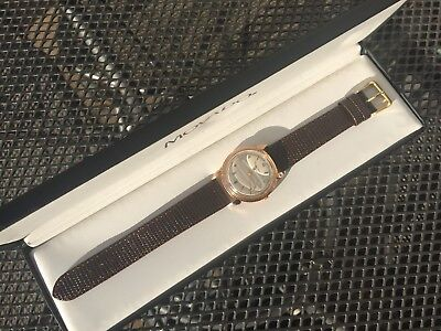 1960's EXTREMELY RARE Vintage Gents Movado 18ct Rose Gold Coin Case 35mm & Box