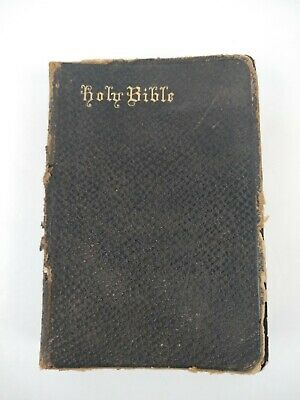 Antique 1895 A.J. Holman & Co Holy Bible Old & New Testament Philadelphia