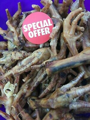 2kg- Large Dried 100% Natural Tasty Chicken Feet Dog-Pet-Chew-Food-Snack-2kg