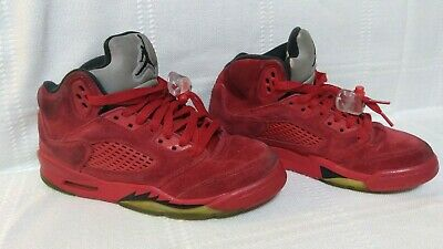 99a96632e73 Nike Air Jordan 5 Retro GS University Red Suede Shoes Sz 4Y 440888-602 P2