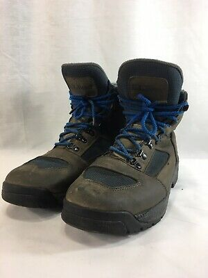 cfd51b638 LL Bean Knife Edge Hiking Boots Shoes Mens 11 M Blue Gray Leather Gore Tex