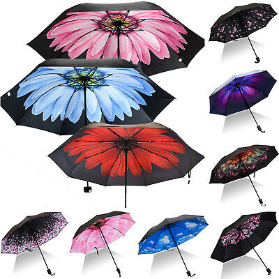 Windproof Double Layer Upside Down Inverted Folding Reverse Rain Sun Umbrella