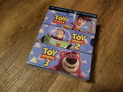 Toy Story Trilogy Collection (Blu-ray, 3 Discs, Region Free) *NEW/SEALED*