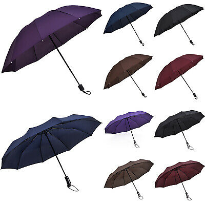 UK Compact Umbrella Automatic Folding Windproof Strong Travel Wind UV Resistance