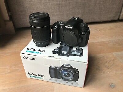 Nr MINT Canon EOS 60D 18.0MP Digital SLR Camera (Kit w/ EF-S IS 18-135mm Lens)