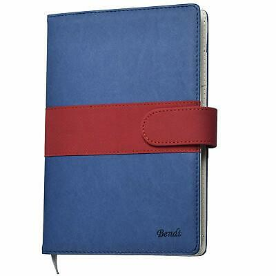 "Refillable Leather Journal Ruled, Lined Notebook with Pen Loop, A5 (8.7"" x 5.8"")"