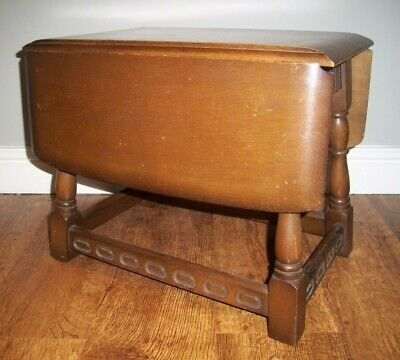 Antique Victorian Oak Drop leaf Side Table (Hinge and Twist Mechanism Coffee)