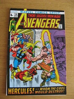 Avengers #99 [NM condition] (1972 Marvel) off white pages App Hercules