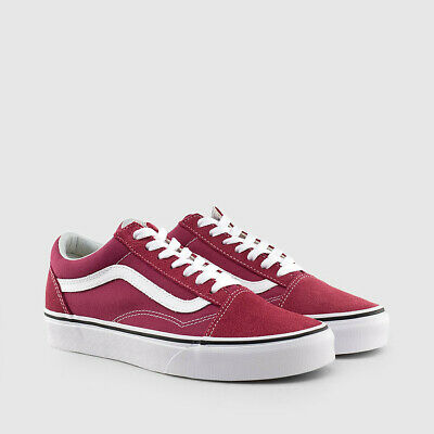 VANS OLD SKOOL Dry Rose True White Laced Shoes Size 9.5 US