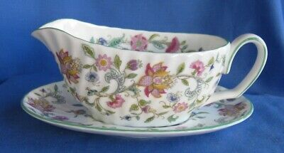 Minton Haddon Hall Gravy Boat and Under-plate Mint Condition