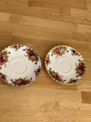 2 large Royal Albert Old Country Roses Spare Saucers , 1st Quality, England