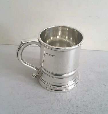 Good Ant. Solid Silver Georgian Style Mug.    Ht.8Cms.    159Gms.   Chest. 1913.