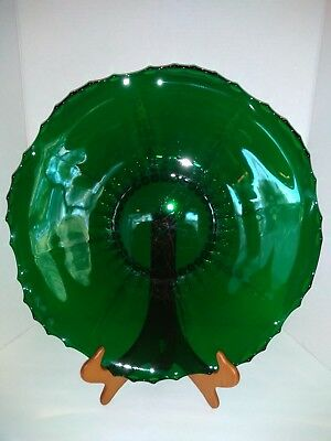 """New Martinsville Radiance Large 17"""" Emerald Green Under-Plate for Punch Bowl"""