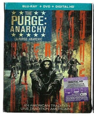Brand New Sealed BLU-RAY + DVD + HD - THE PURGE ANARCHY - Season Also In French
