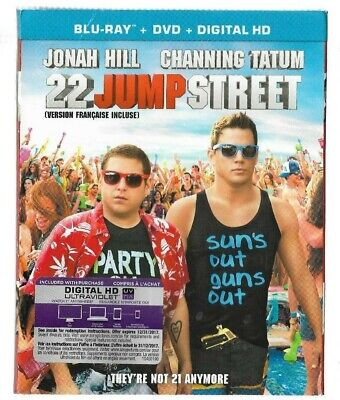 Brand New Sealed BLU-RAY + DVD + HD - 22 JUMP STREET -  Also In French