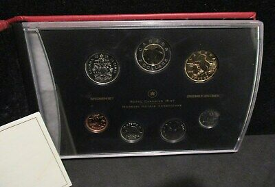 2005 Canada Specimen Set of 7 Coins Tufted Puffin Loonie - Original Packaging