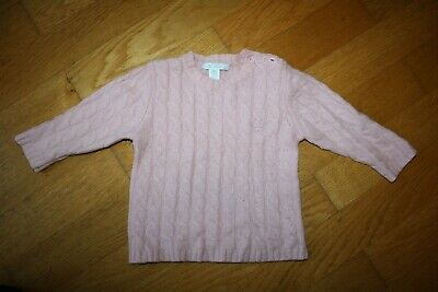 Marie Chantal Baby Pink cashmere cable knit sweater/jumper- Age 18 months
