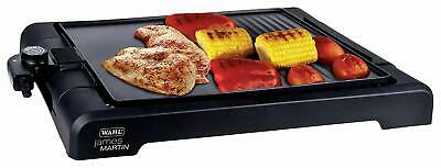 Table Top Grill Flat Plate Non-Stick Cooking Surface Cool-Touch Handle Drip Tray