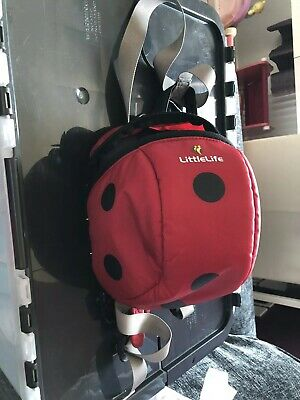 Little Life Ladybird Baby Kids Rucksack Backpack Bag Detachable Safety Reins