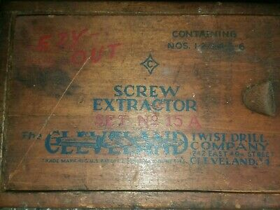 Vintage screw extractor wooden box(box only)
