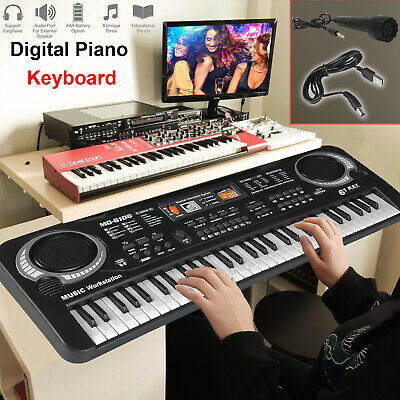 61 Keys Digital Music Electronic Keyboard Electric Piano Organ & Microphone Set.