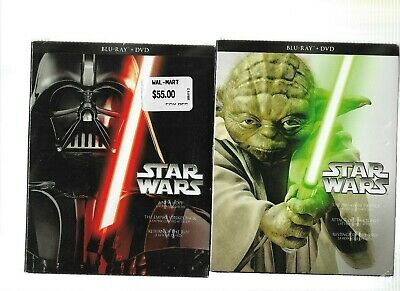 Brand New Sealed Blu-Ray Disc & DVD - STAR WARS Complete Series 1 2 3 4 5 6