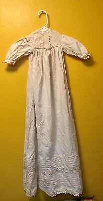 """Antique Baby Christening Gown Long - 42-43"""" Approx. Length"""