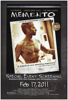 Memento 2011 27x40 Orig Movie Poster FFF-74181 Rolled Fine, Very Good