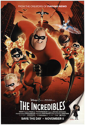 The Incredibles 2004 27x40 Orig Movie Poster FFF-74129 Rolled Fine, Very Good
