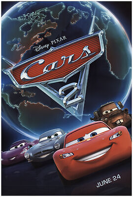 Cars 2 2011 27x40 Orig Movie Poster FFF-74119 Rolled Fine, Very Good