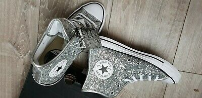 eb6c8b8ebb911 Chaussures baskets sneakers montantes Converse glitter paillettes taille 38