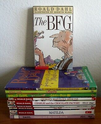Lot Of 9 Roald Dahl Books: Bfg, James Giant Peach, Twits, Charlie, Esio Trot