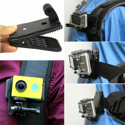360° Rotary-Backpack Hat Belt Mount Clamp Clip For Gopro Hero 3+/3/2/1 Camera