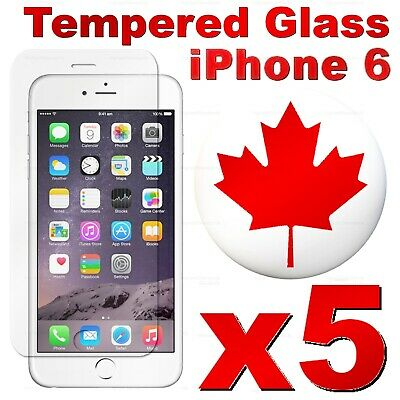 Premium Tempered Glass Screen Protector For iPhone 6 | iPhone 6S PLUS (5 PACK)