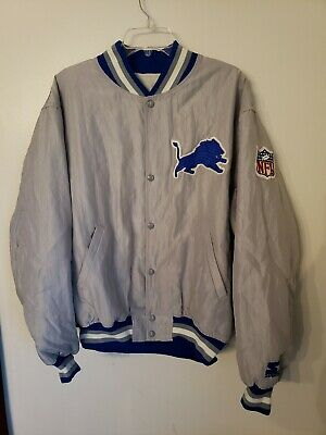 1a521061 VINTAGE 90S DETROIT Lions PRO LINE Pullover Jacket by Reebok Mens XL ...