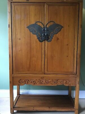 Antique Chinese Butterfly Cabinet