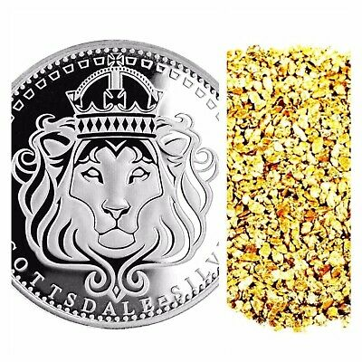1 Troy Oz .999 Silver Scottsdale Omnia Bu + 50 Piece Alaskan Pure Gold Nuggets